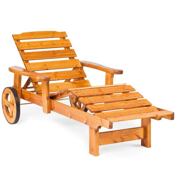 Șezlong din lemn de pin nordic - Dalom - 87112