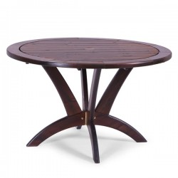 Masă rotundă din lemn de pin nordic - 12001