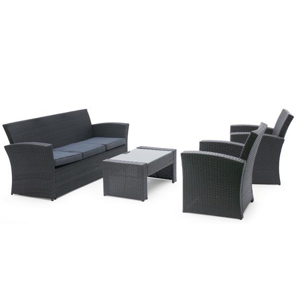Set mobilier rattan sintetic - Santiago - 407100