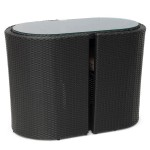 Set complet rattan sintetic - Orly - negru - 23800