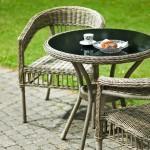 Scaun rattan sintetic - Coriano Café - 42401