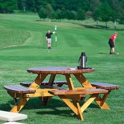 Mobilier picnic cu masă rotundă - 110577